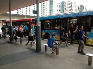 シンガポールのバス路線 画像