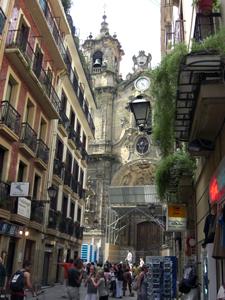 バスク州の都市、サン・セバスチャンの旧市街