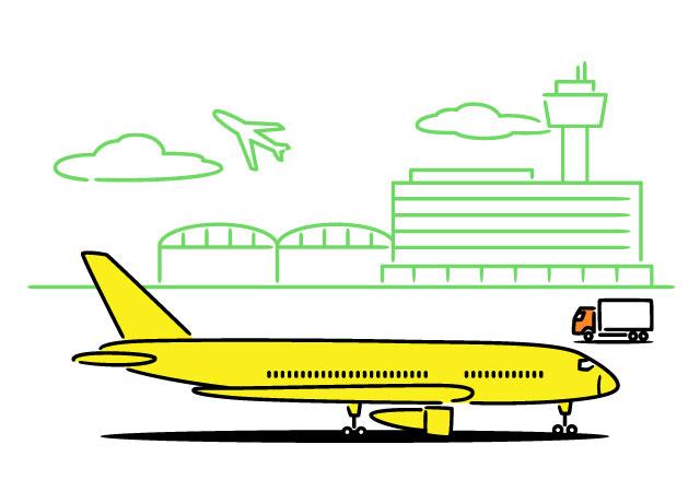 航空機部品業界イラスト