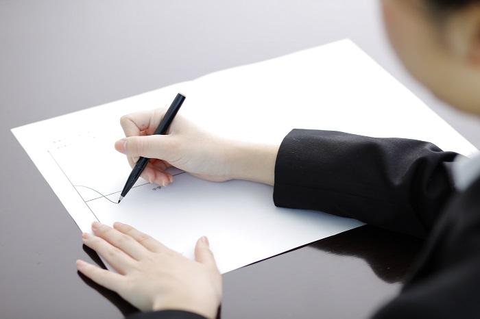 M子さん、モチベーショングラフ作成中の画像